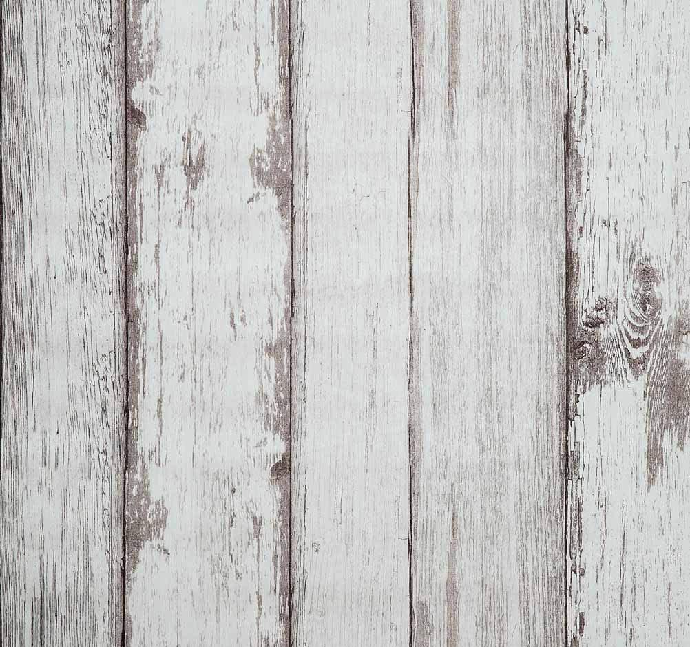 Vinilo acabado madera blanca vintage