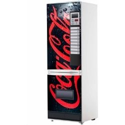 Vinilo para frigorífico maquina espendedora coca cola negra