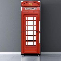 Vinilo para Frigorífico Cabina teléfonos Londres
